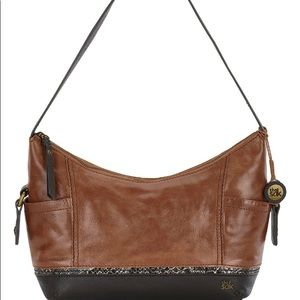 Brown and black hobo purse 👛